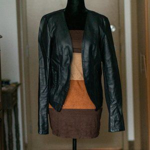 Dynamite | Faux Leather Popover Jacket - Black, M